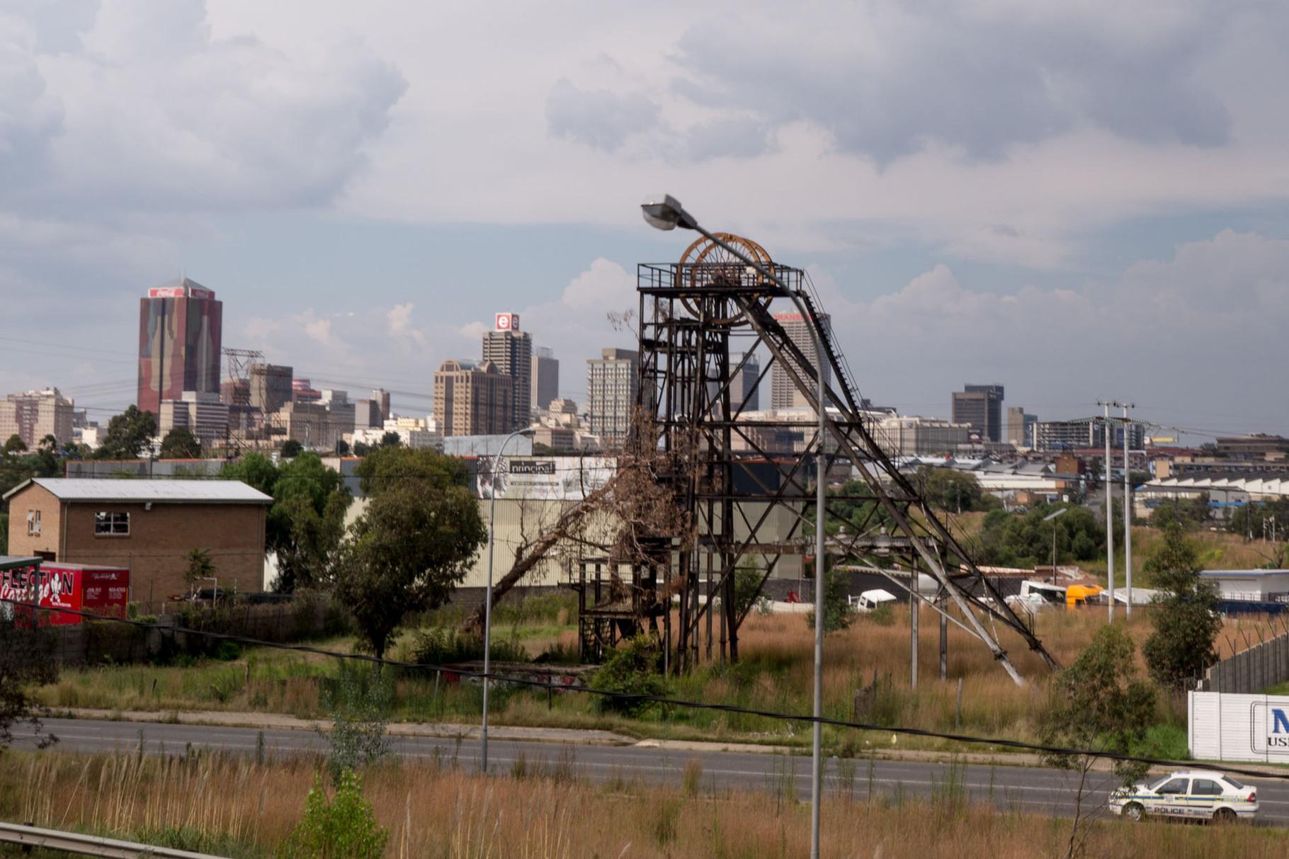 Overgrown gold mining utilities, Johannnesburg