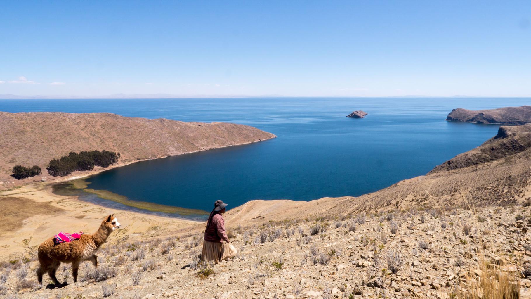 Isla del sol (Sun island), Lake Titicaca