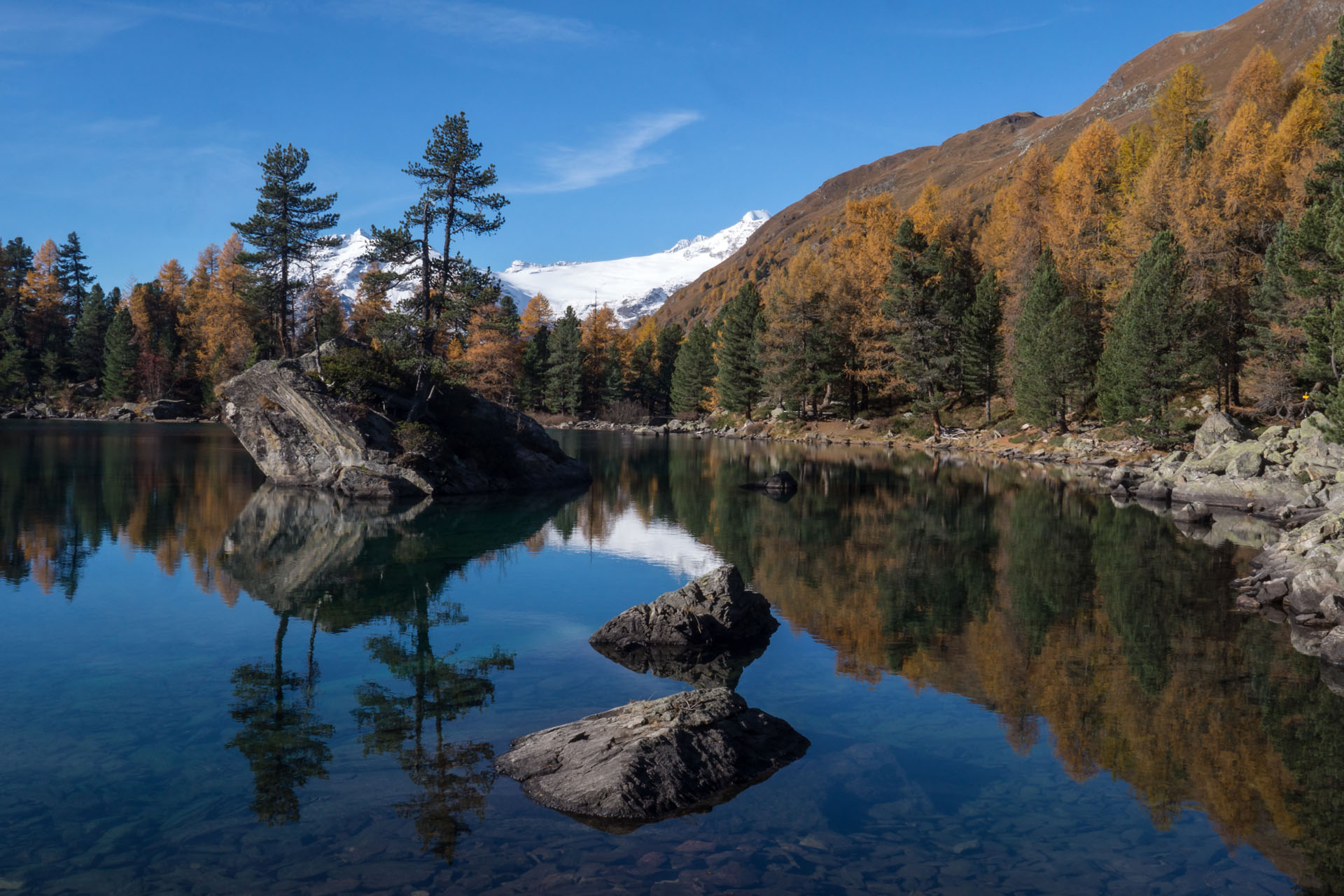 Lago Saoseo in autumn