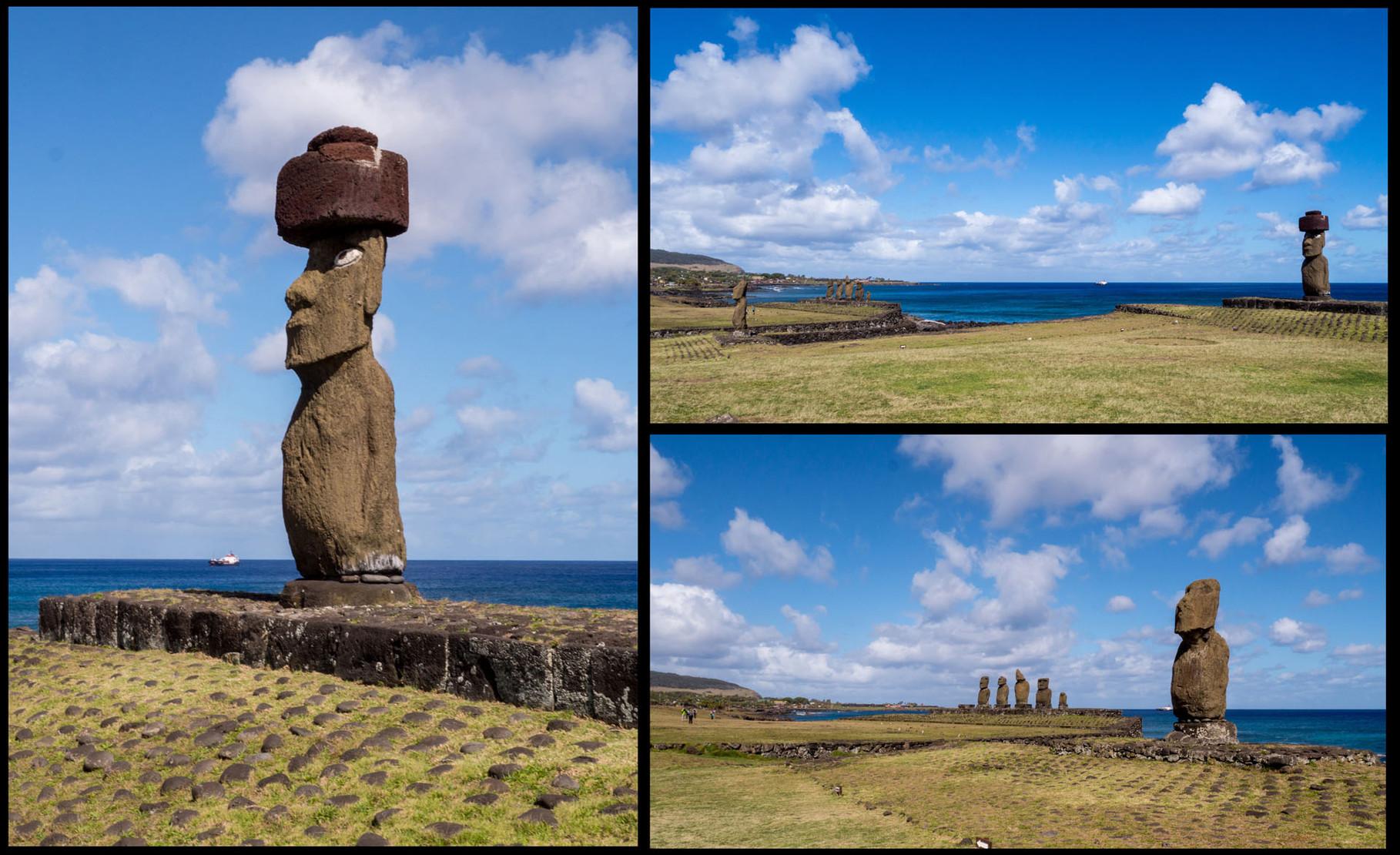 Moai´s near Hanga Roa (Tahai site), Easter island [Chile, 2014]