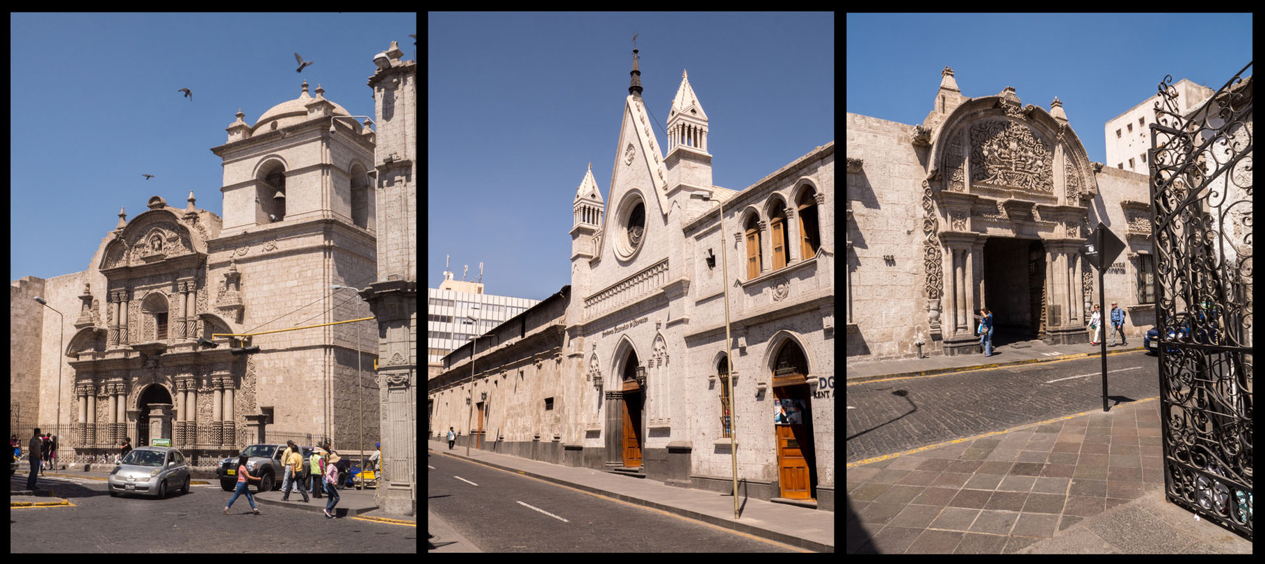 "Arequipa, second biggest city in Peru, also called the ""White city"""