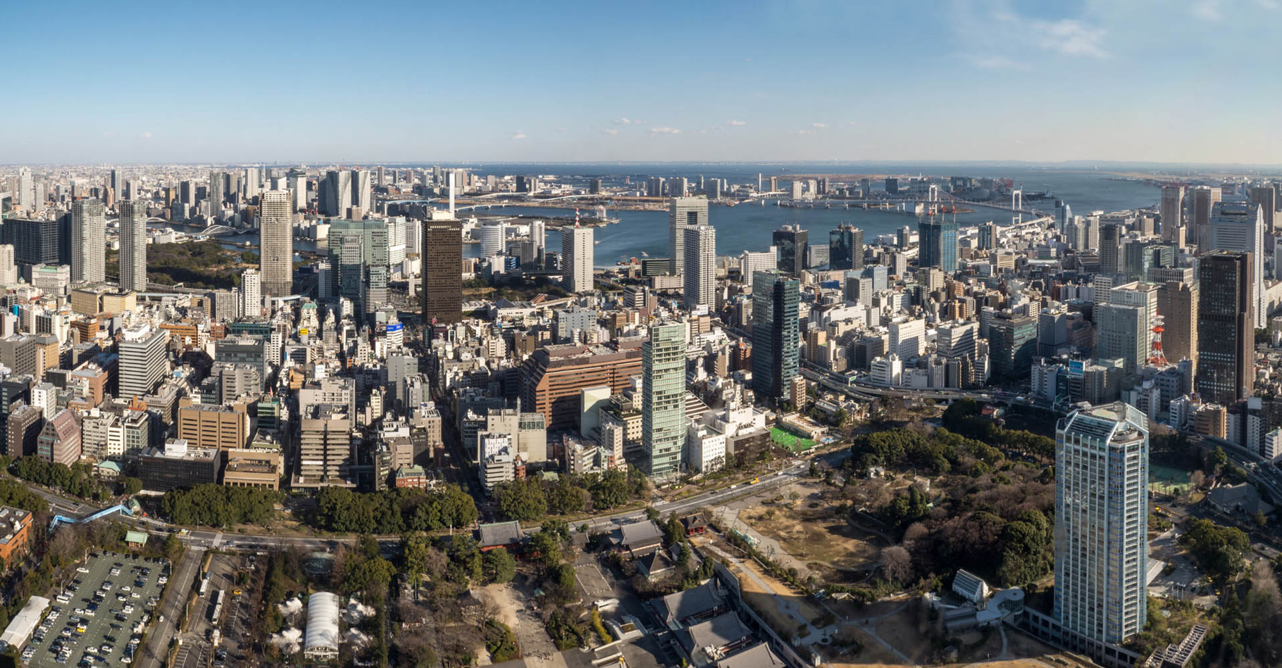 Tokyo harbour, view from Tokyo Tower