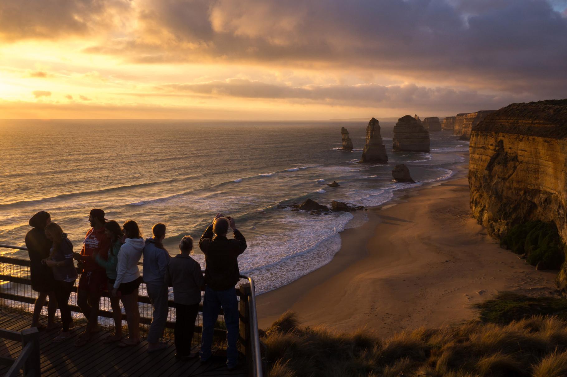 Twelve Apostels at sunset, Great Ocean Road