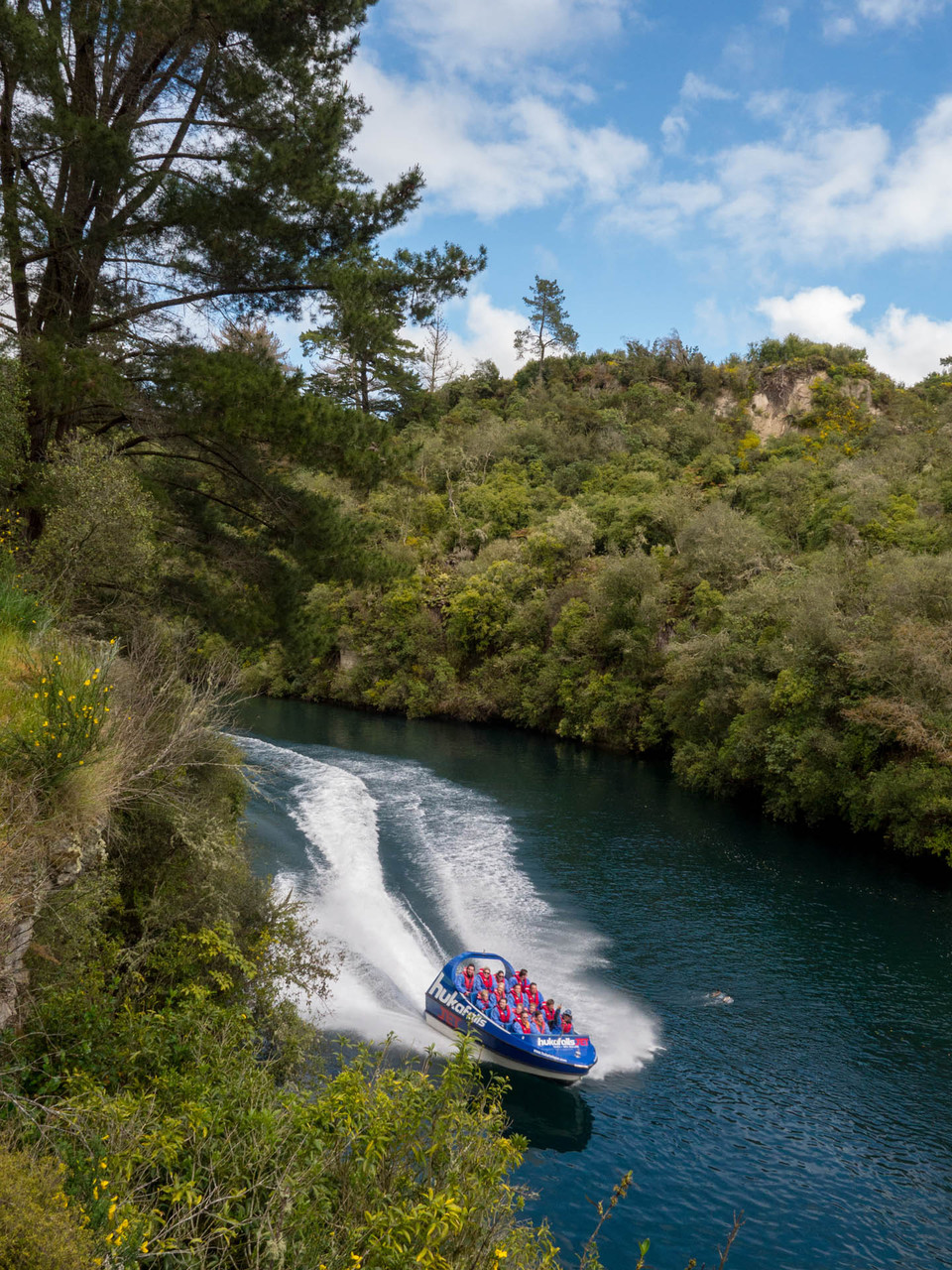 Huka Falls Jet (works as a Jetski and is up to 80 km/h fast), near Taupo