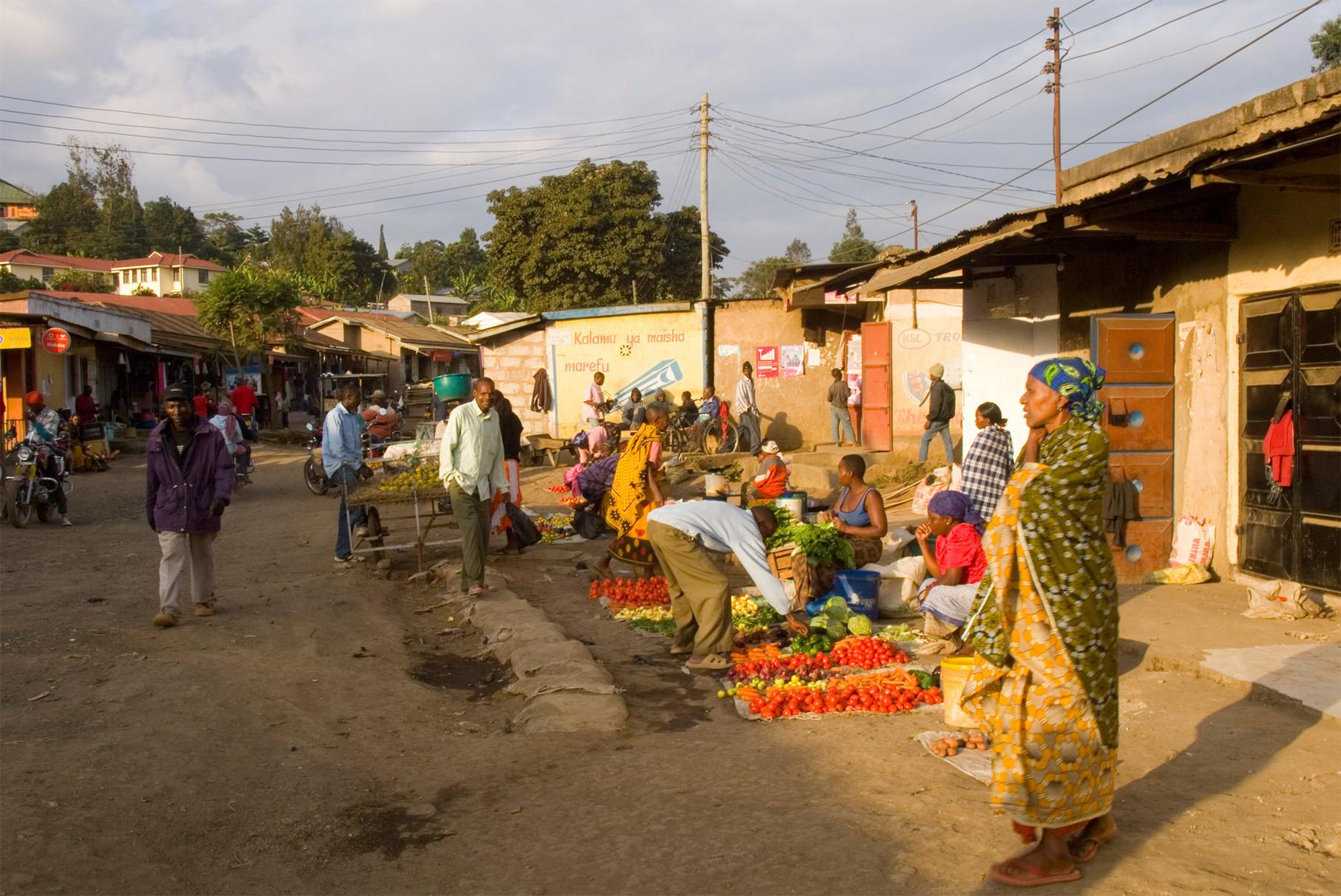 Market in Arusha, 2012