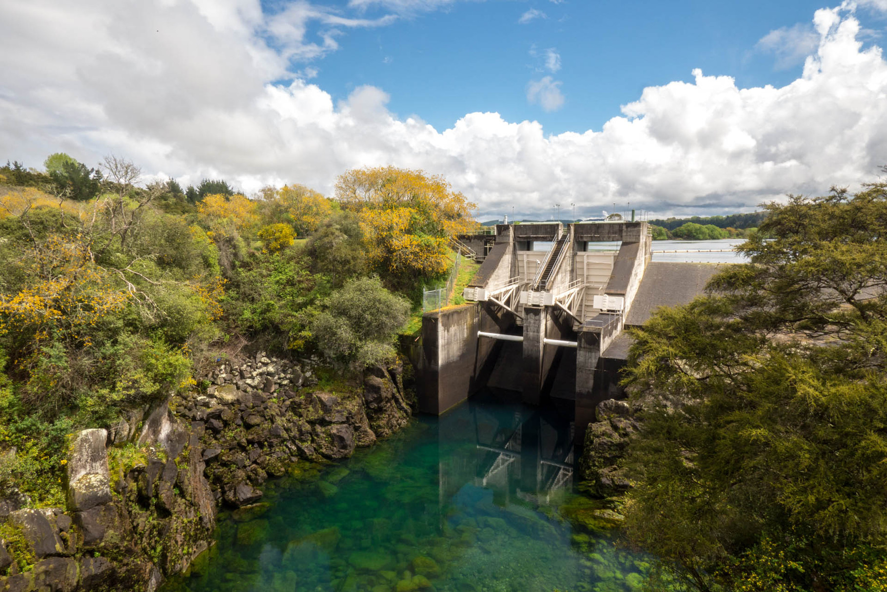 Aratiatia dam at Waikato river, near Taupo