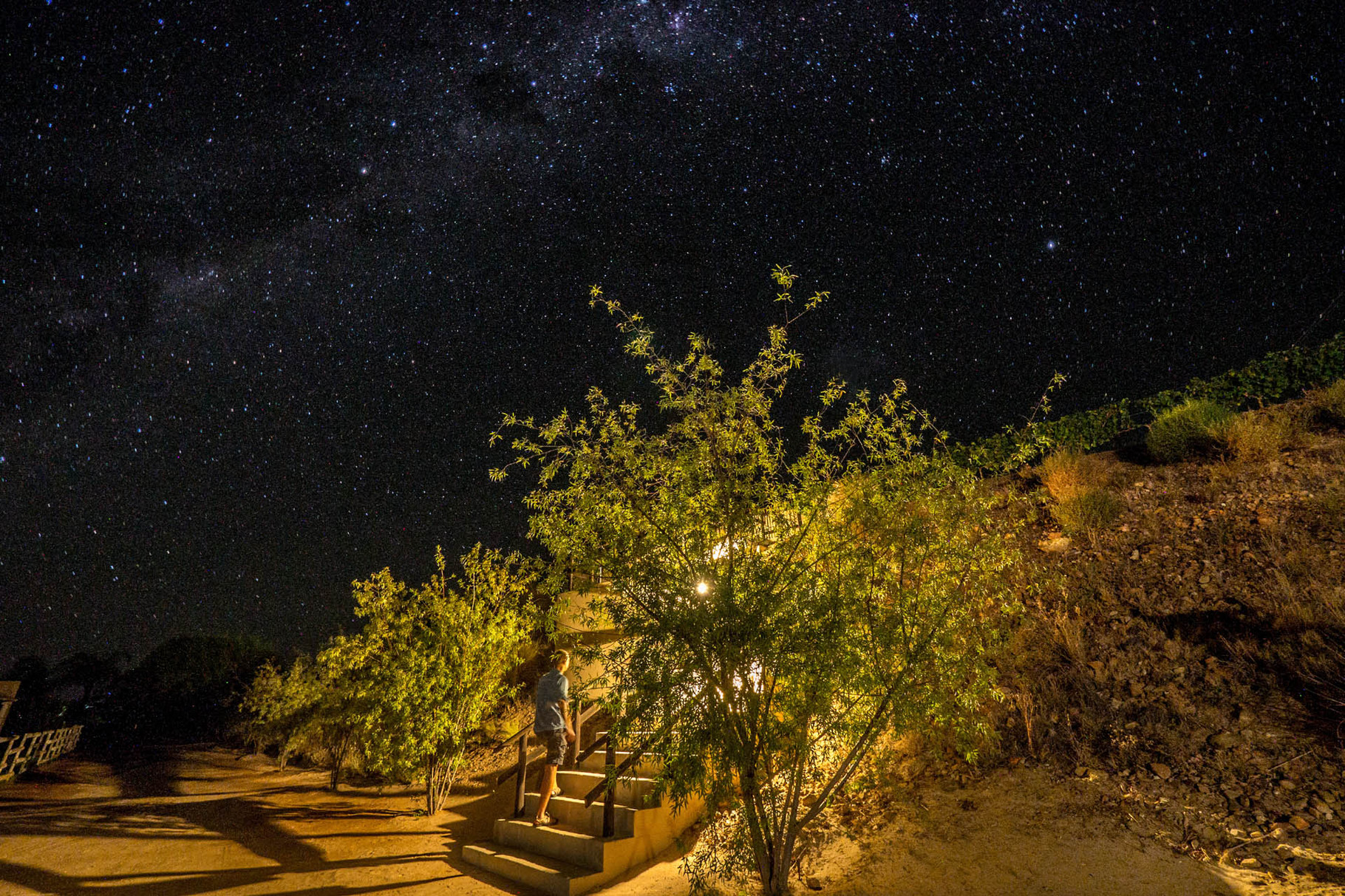 """Stairways to haven"" - Great view on Milky way"