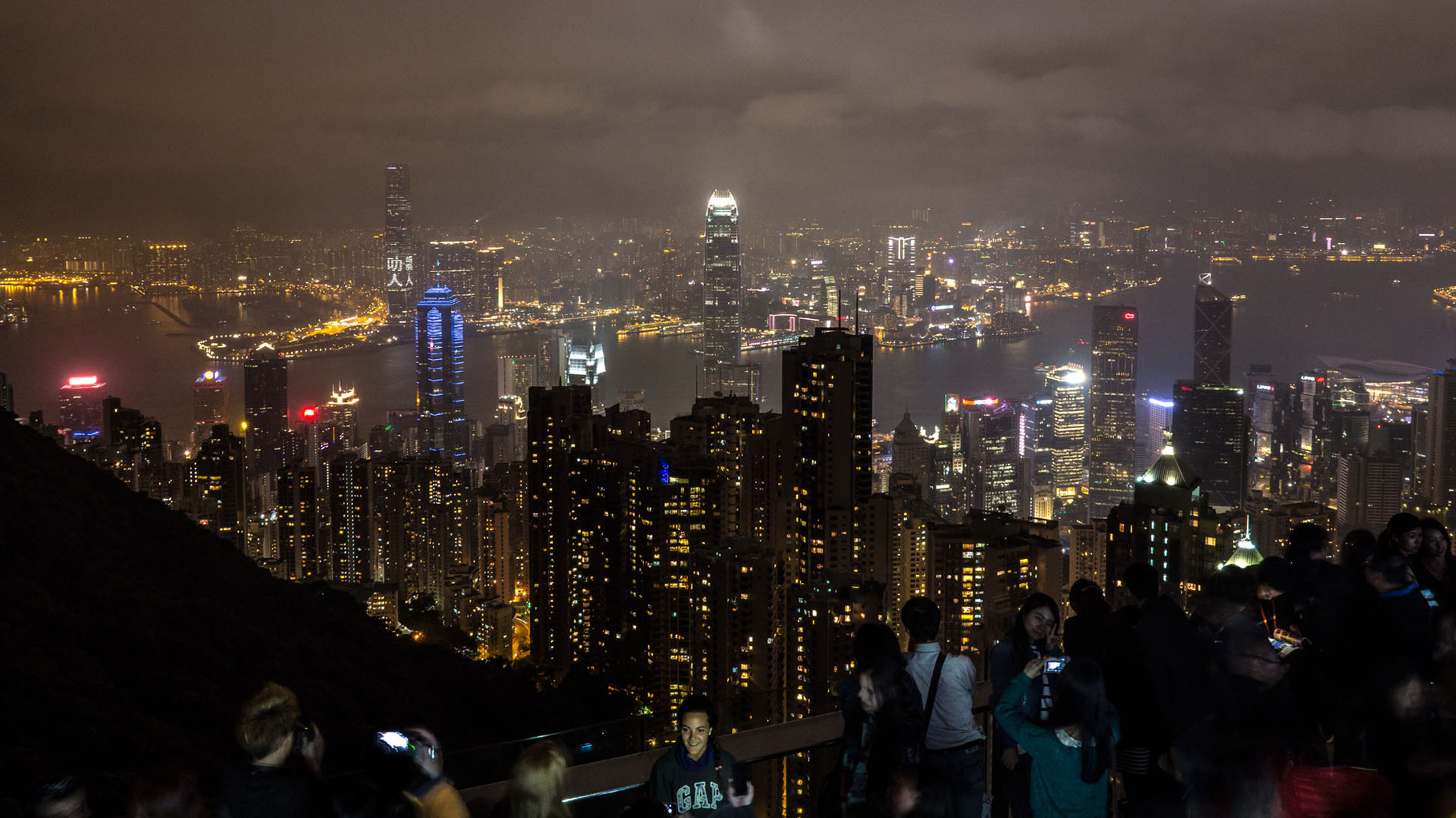 Hongkong skyline, photographed from Sky terrace