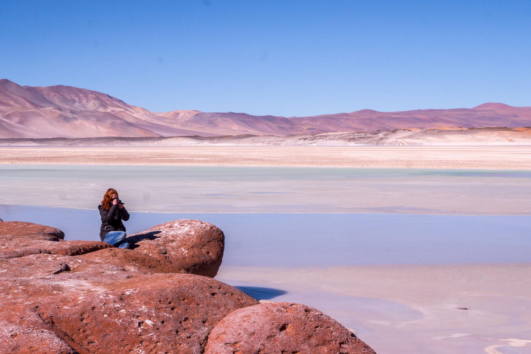 Aguas Calientes y Piedras Rojas de Hierro (Red rocks), near San Pedro de Atacama, Chile