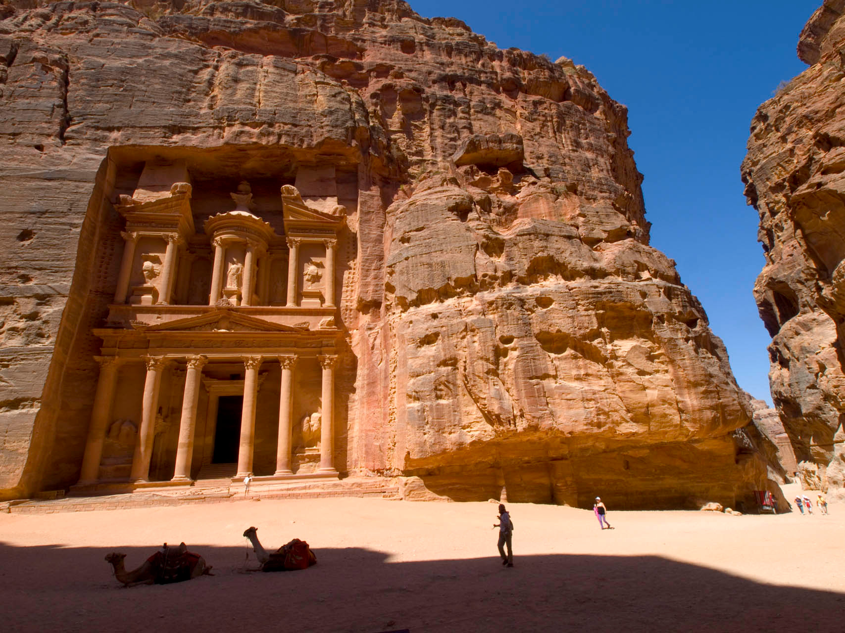 Jordan: Al Khazneh or The Treasury at Petra