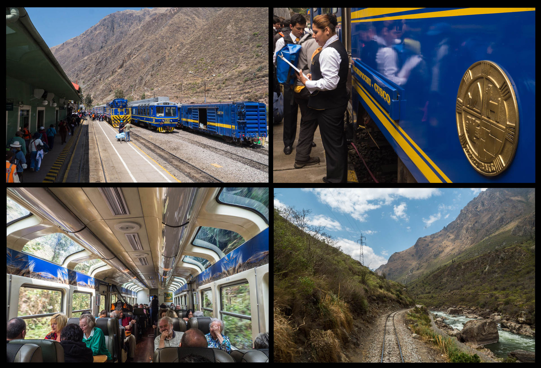 Train from Ollantaytambo to Aguas Calientes (=Machu Picchu Village)