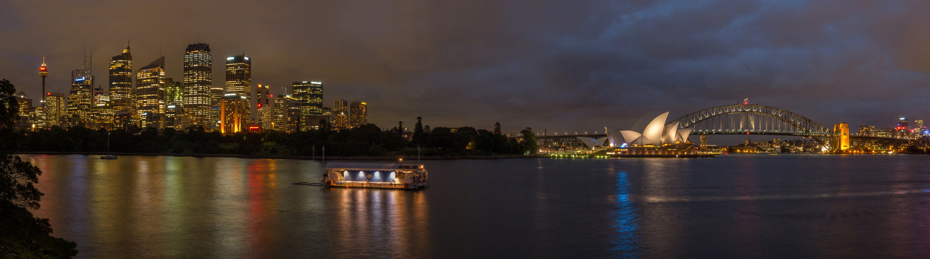 Panorama of the Harbour at dusk, Sydney