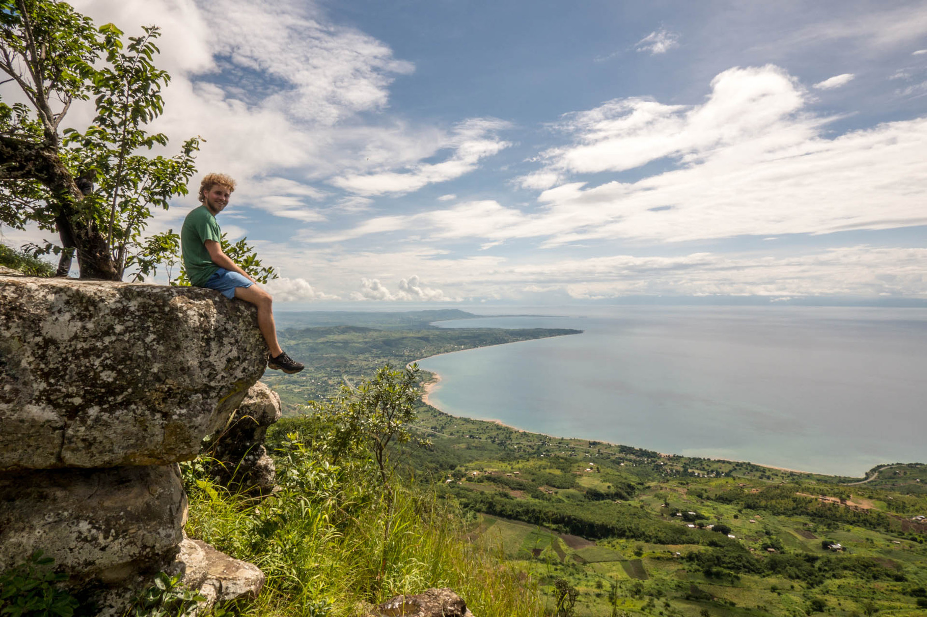 Lake Malawi seen from Chombe table mountain
