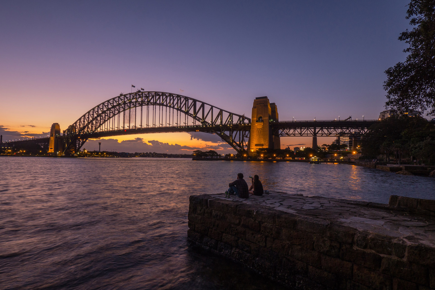 Harbour bridge at dusk, Sydney