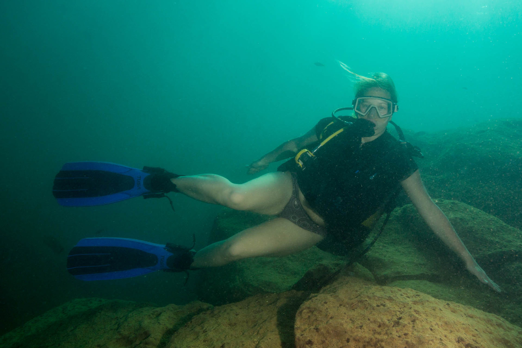 Diver in Lake Malawi