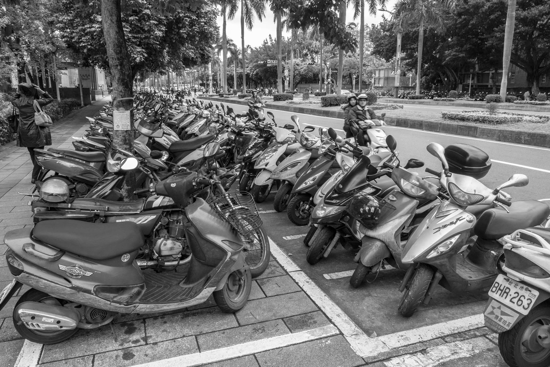 Taiwan, country of scooters