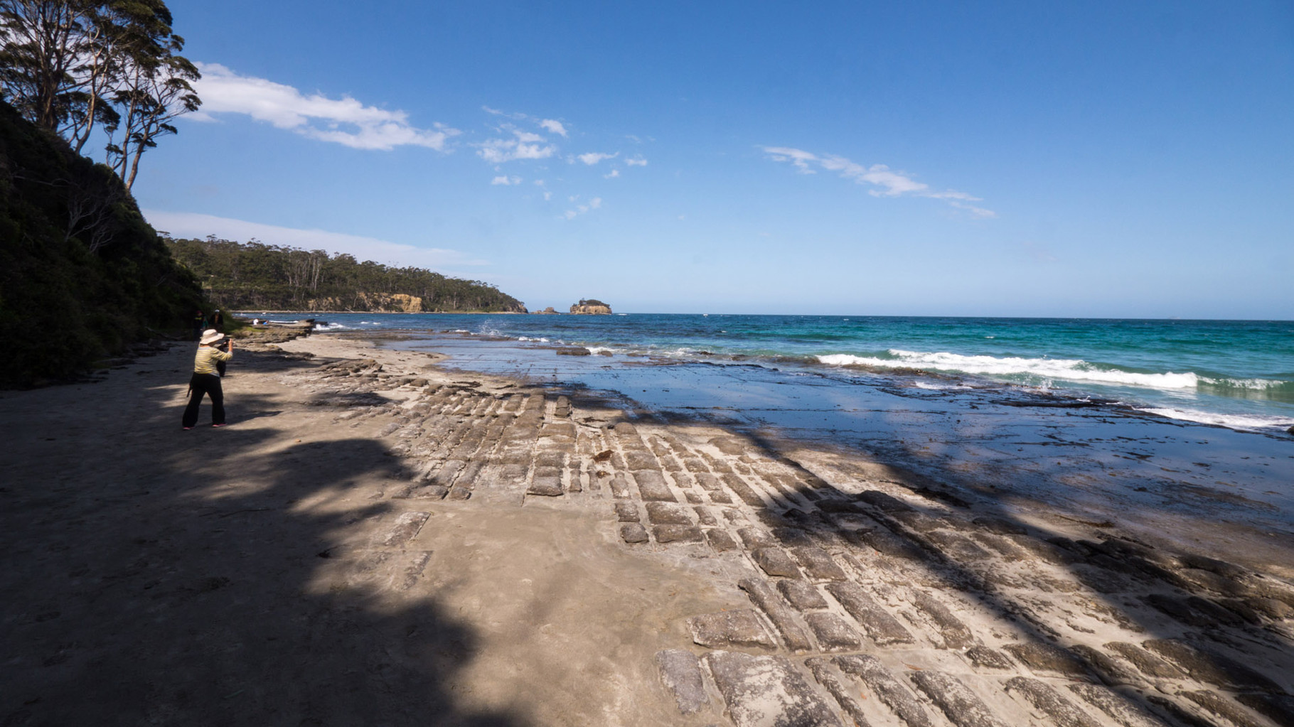 Tassellated pavement beach (all natural), near Eaglehawk Neck