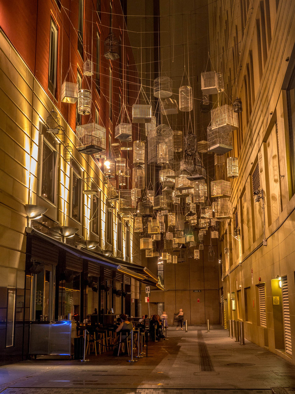 Innovative street decoration, Angel street, Sydney