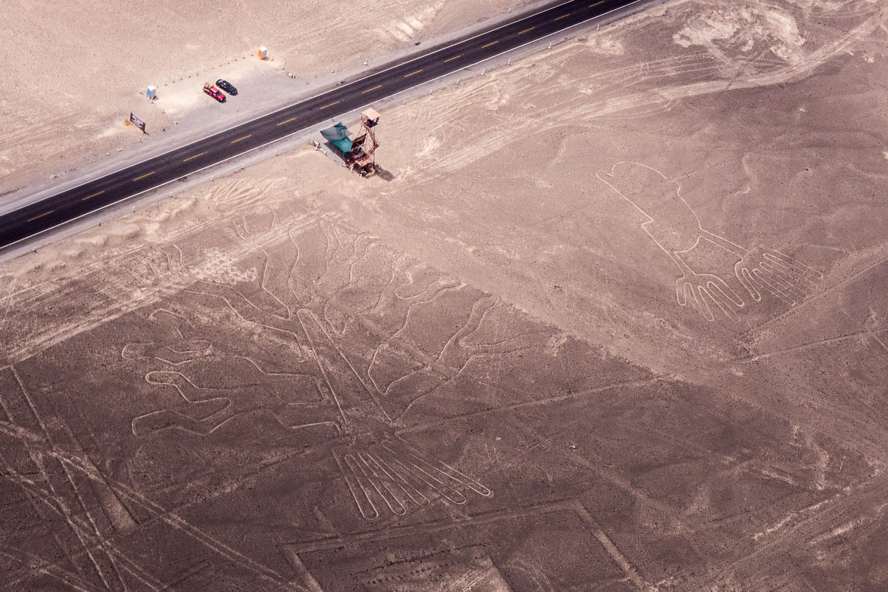 Nazca lines: Tree and Hands