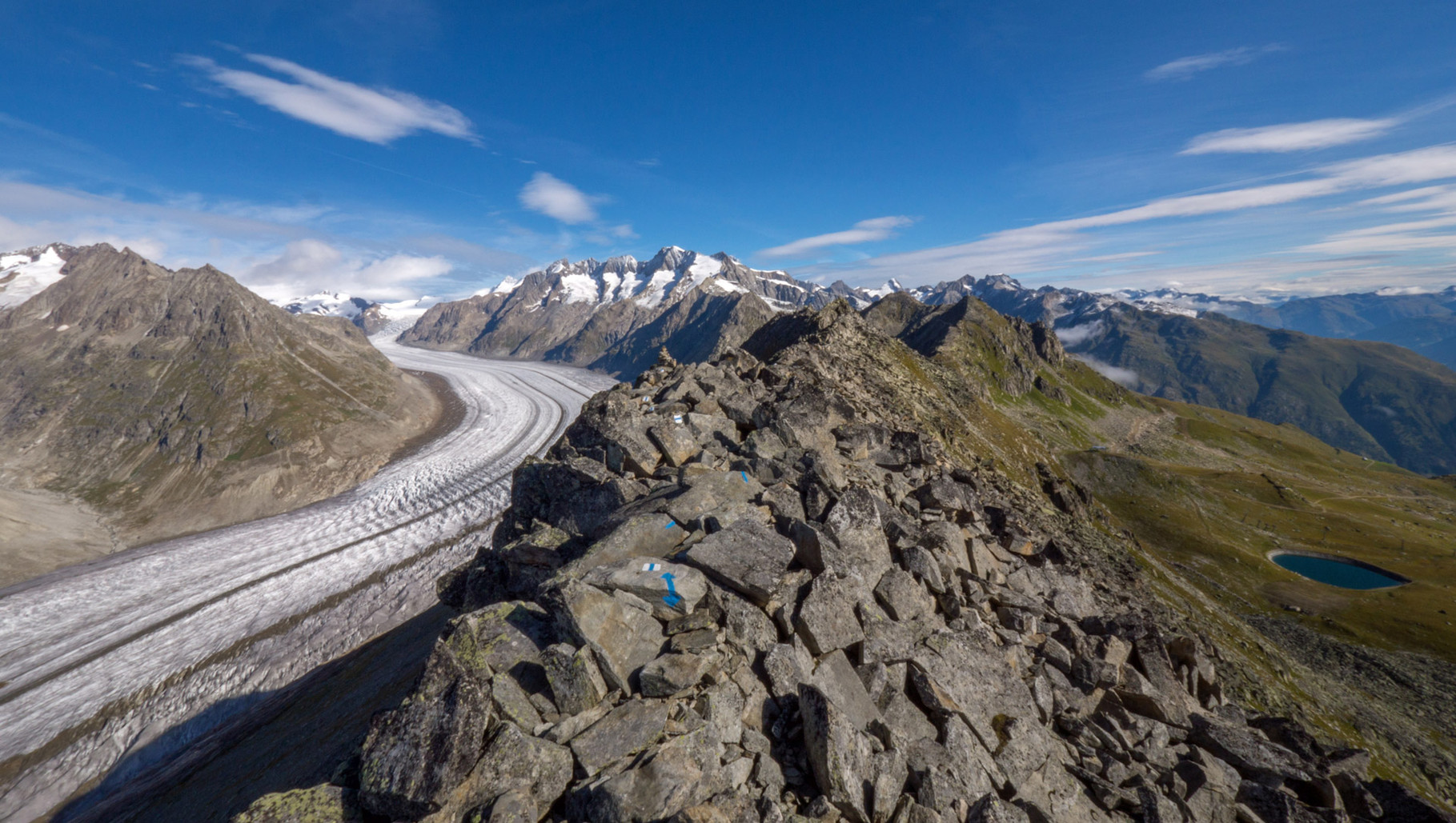 Glacier Aletsch in the Swiss Alps