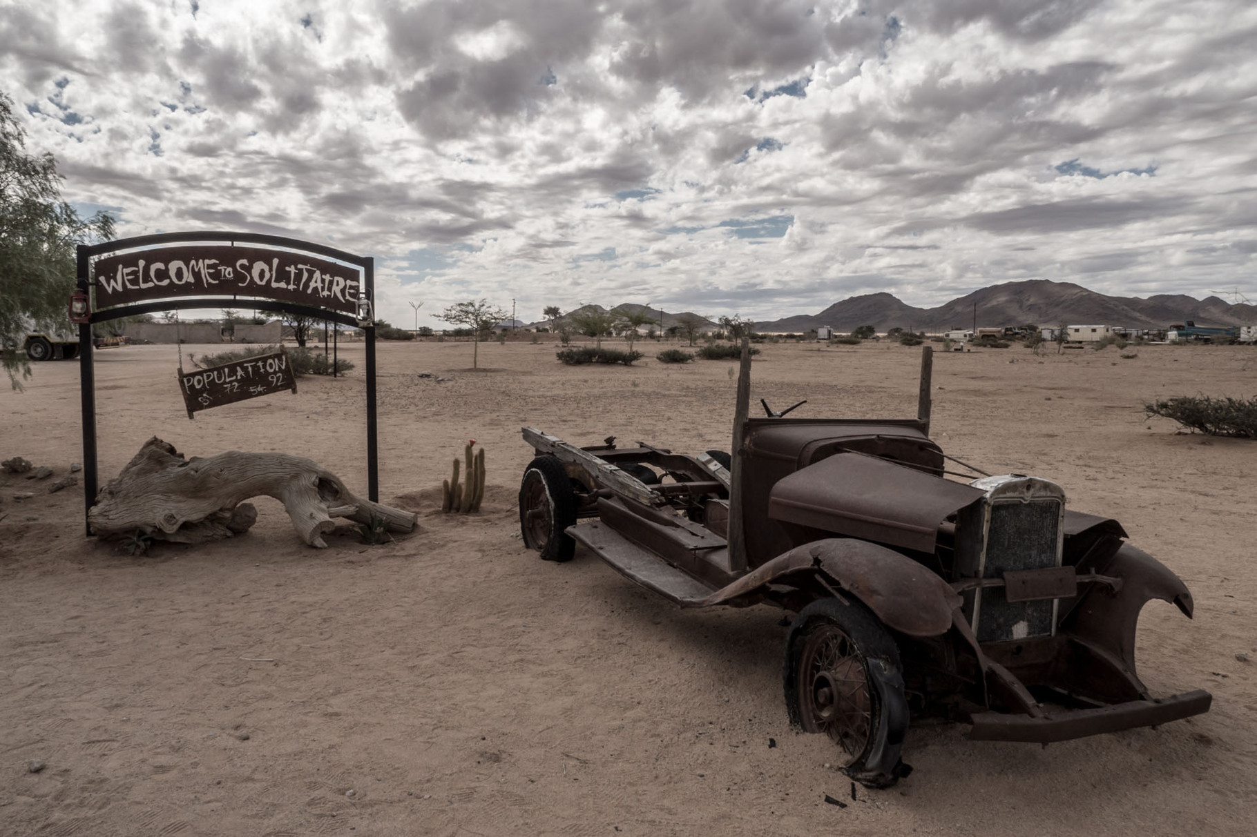 Wild Wild West? No, a small village in the Namibian desert