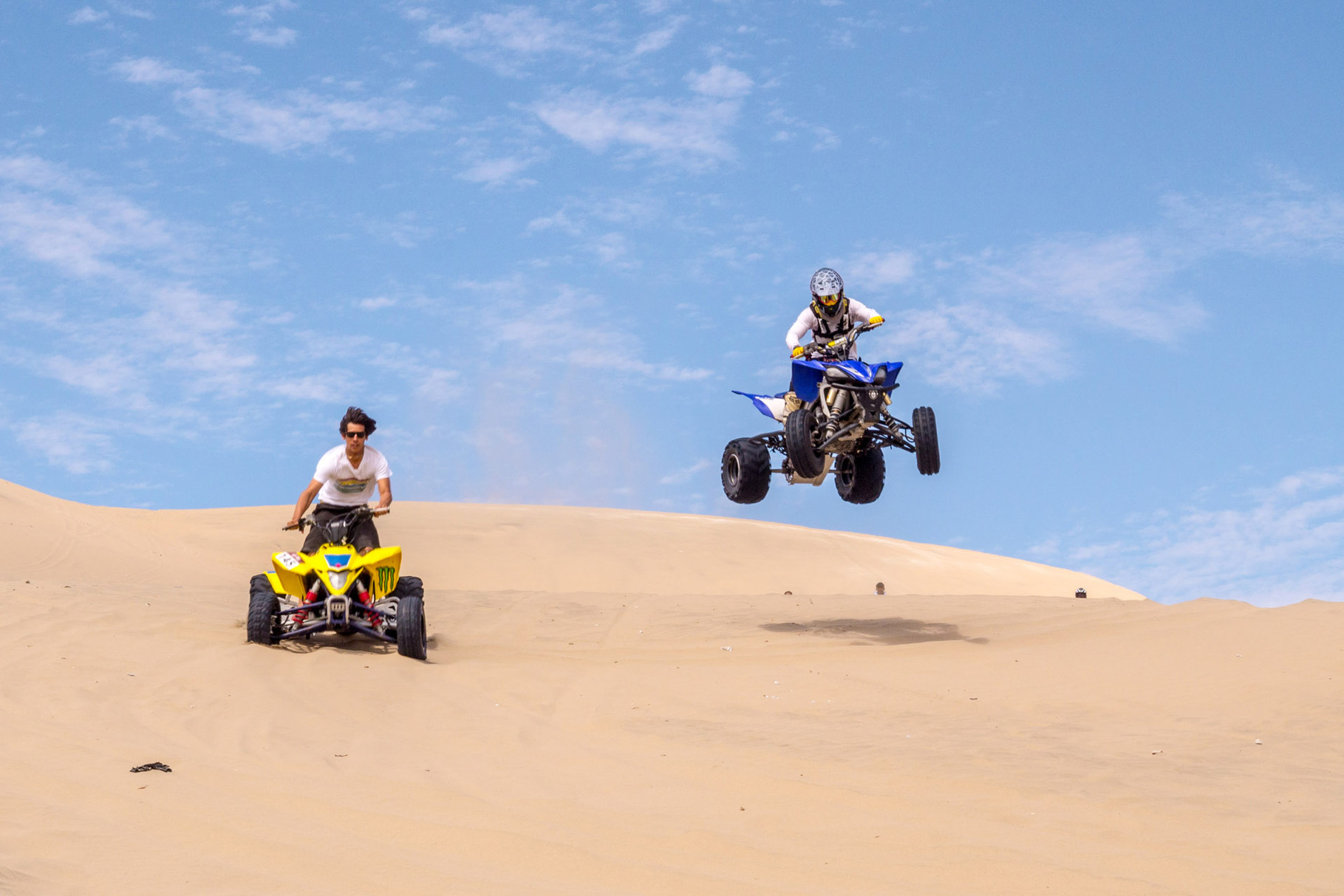 ATVs in the dunes around Huacachina