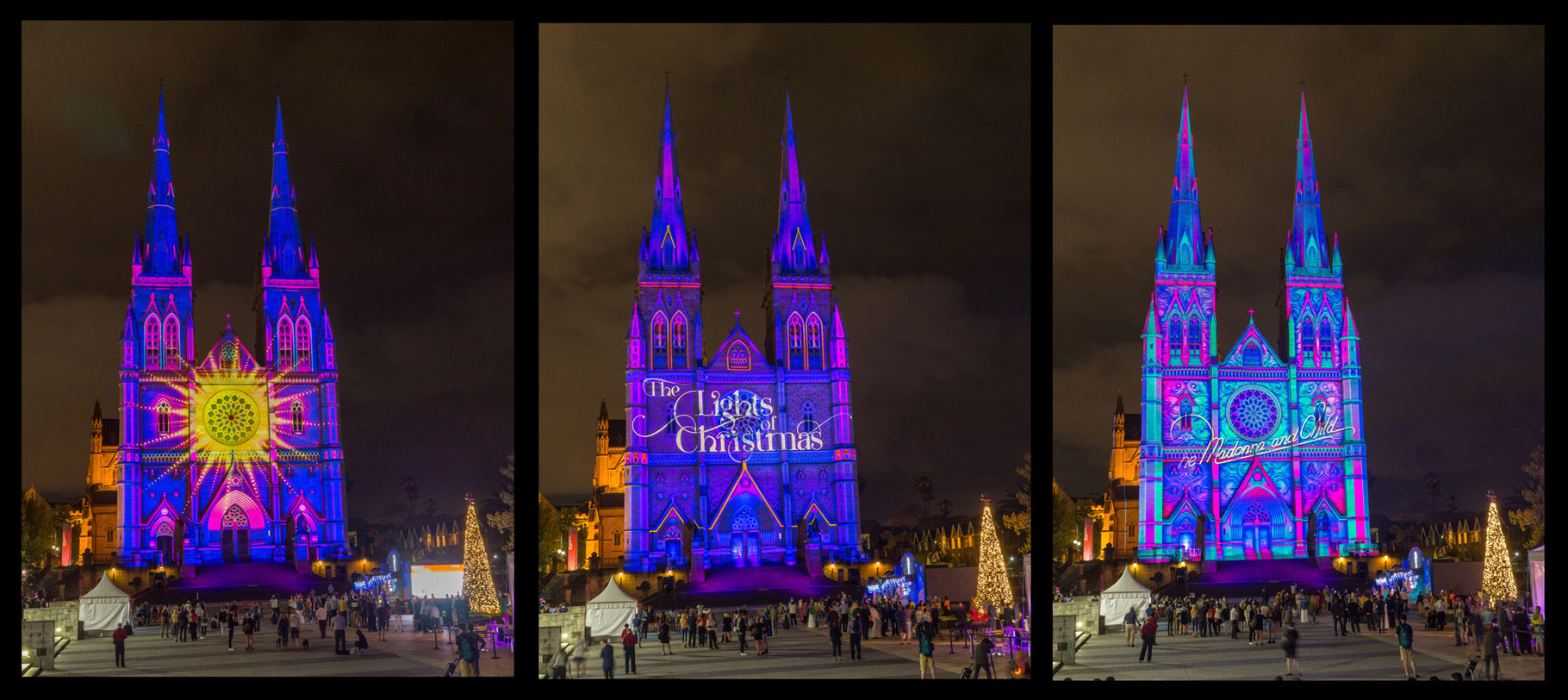 Lights of Christmas, St. Mary Church, Sydney [Australia, 2014]