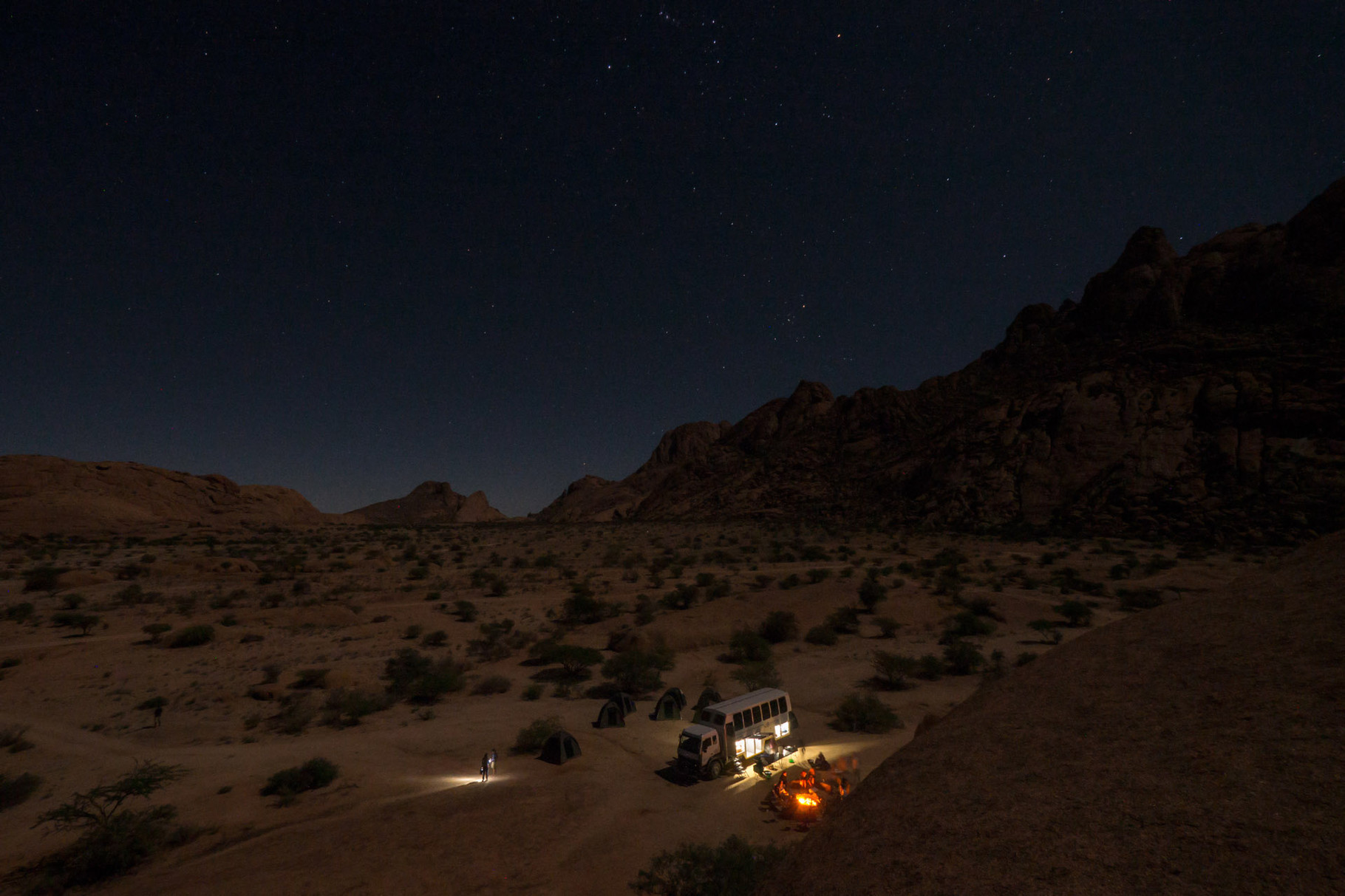 Our Overland truck at Spitzkoppe