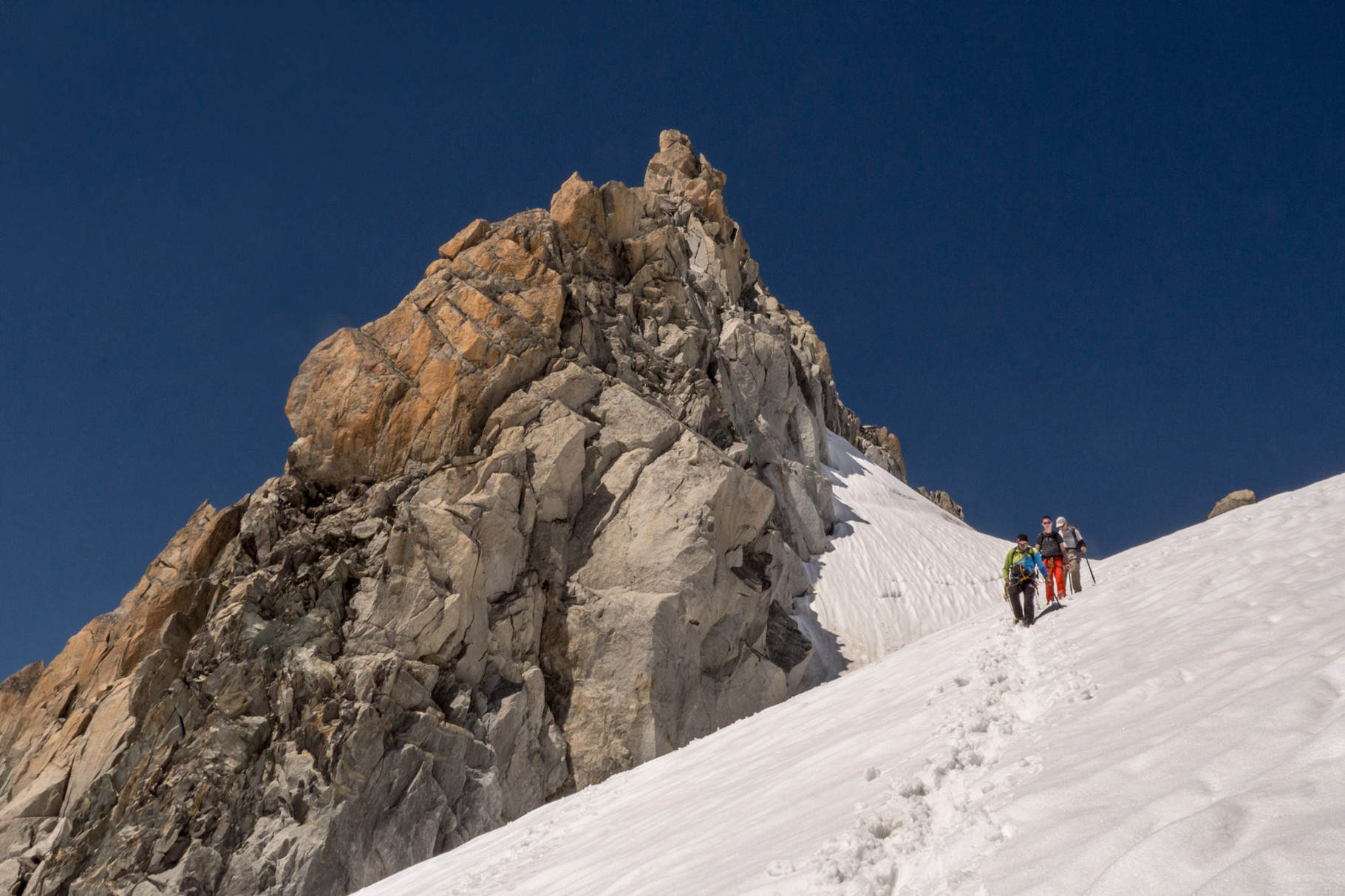 Descent from Aiguille du Tour