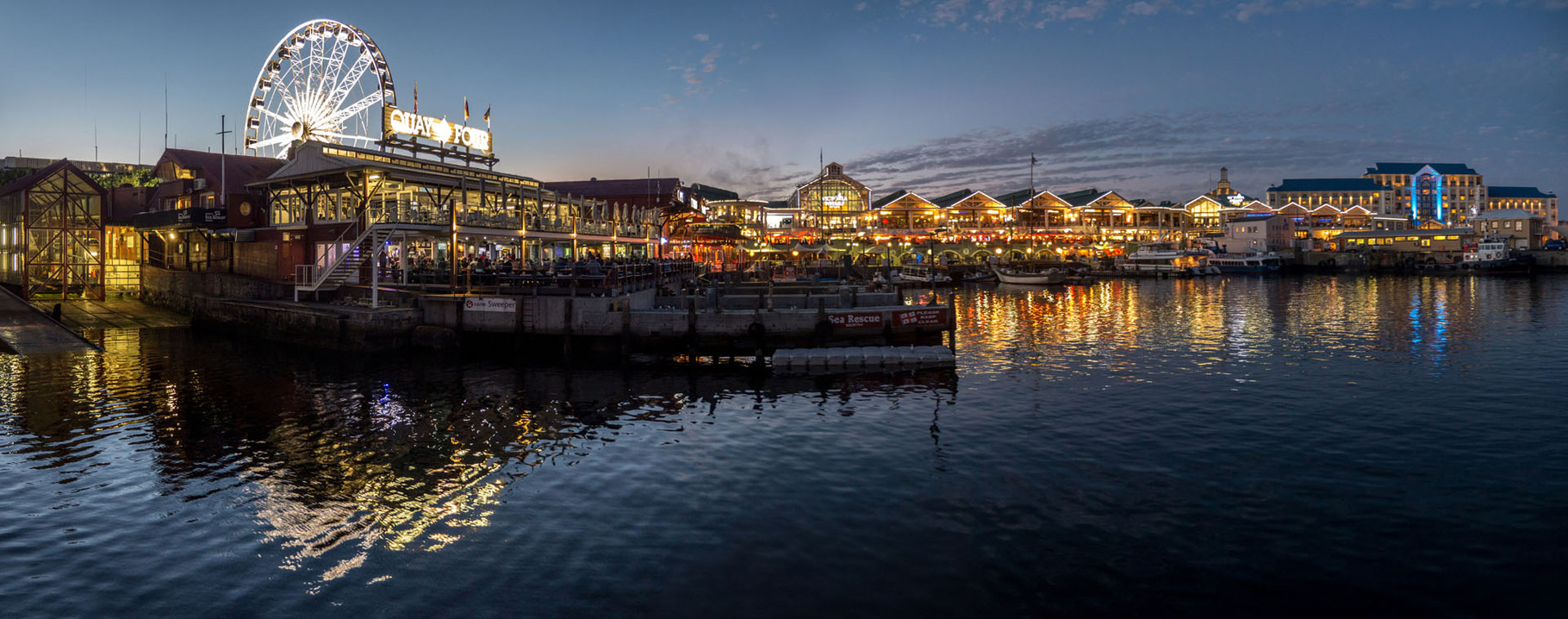 V+A Waterfront at sunset, Cape Town