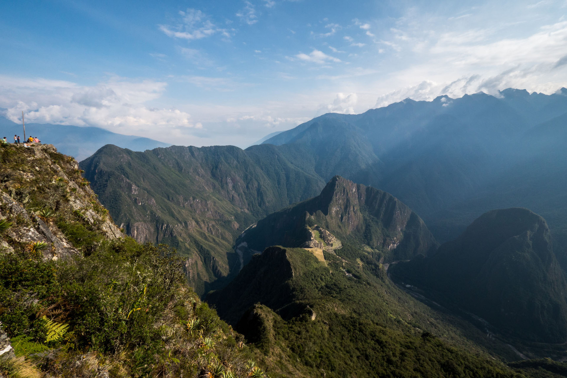 Machu Picchu (2400 masl), seen from Machu Picchu Mountain (3100 masl)
