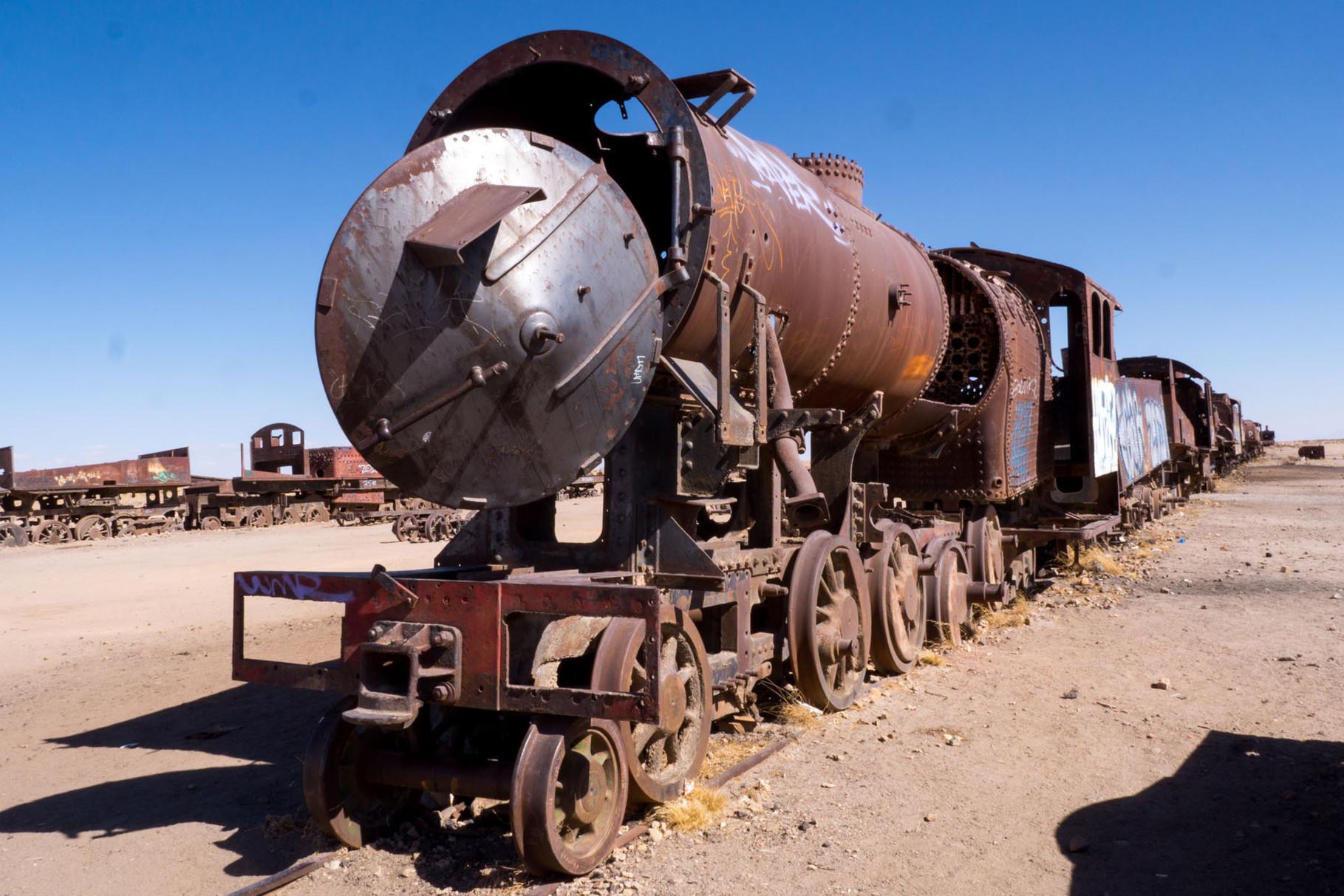 Cementarios de trenes, Uyuni