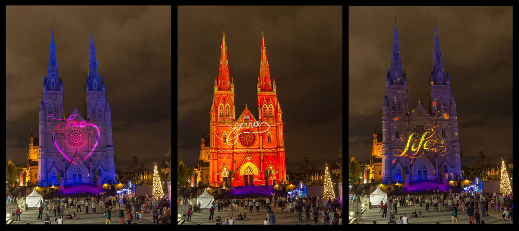 Lights of Christmas, St. Mary Church, Sydney