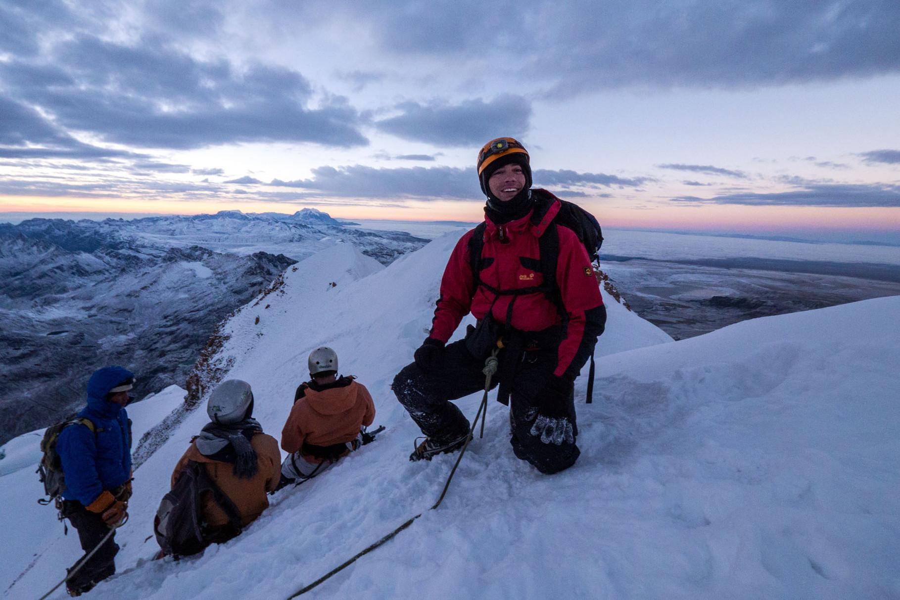 On the summit of Huayna Potosi
