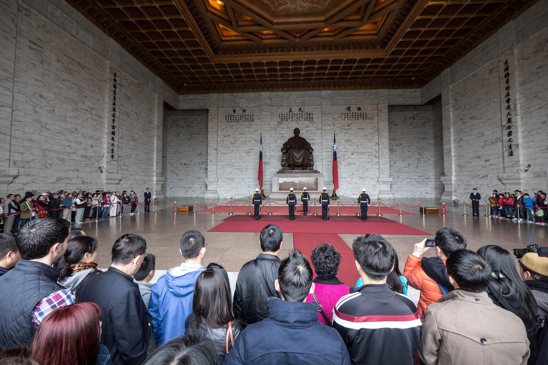 Military procession at Chiang Kai-shek Memorial Hall, Taipei