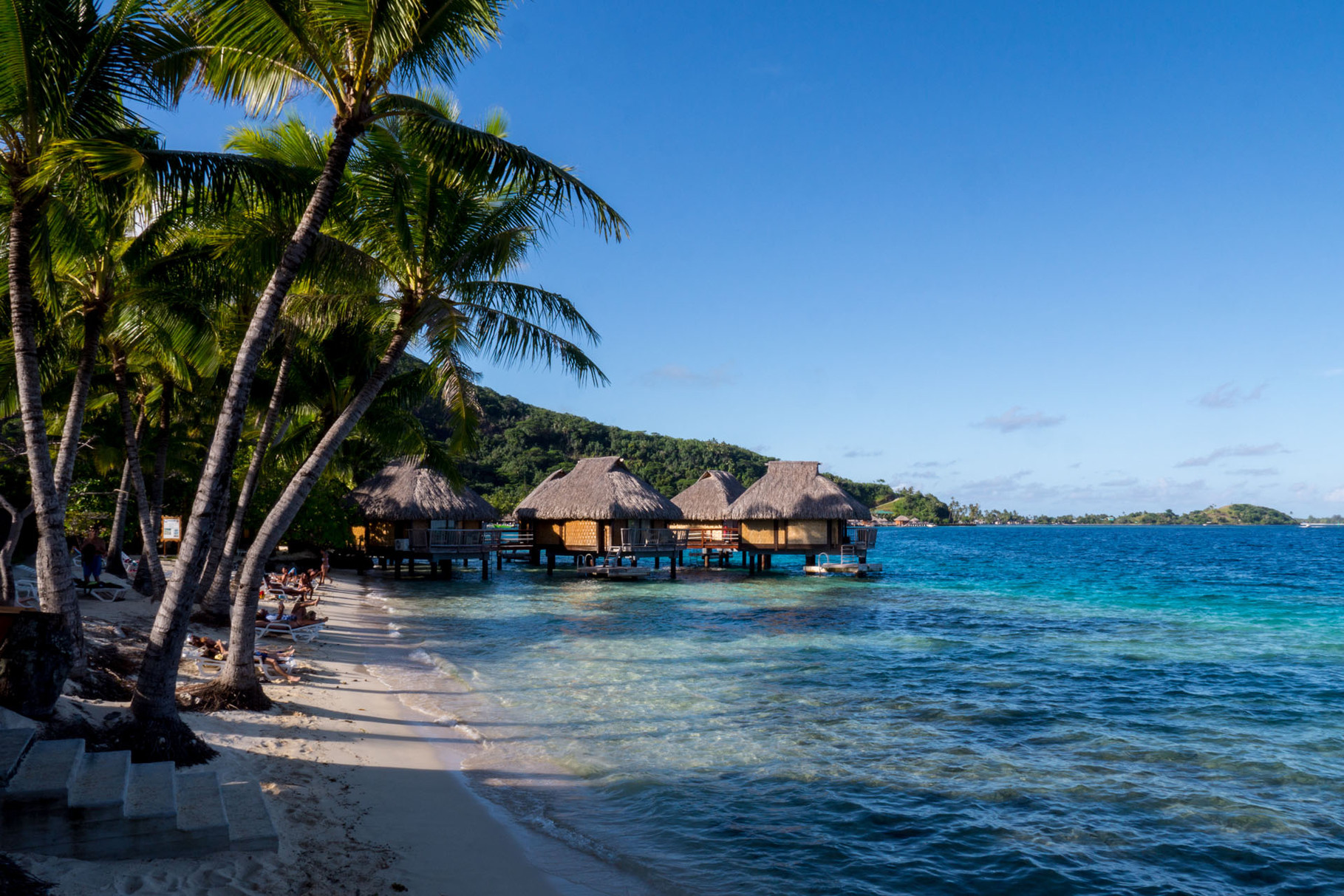 Typical bungalows at Bora Bora
