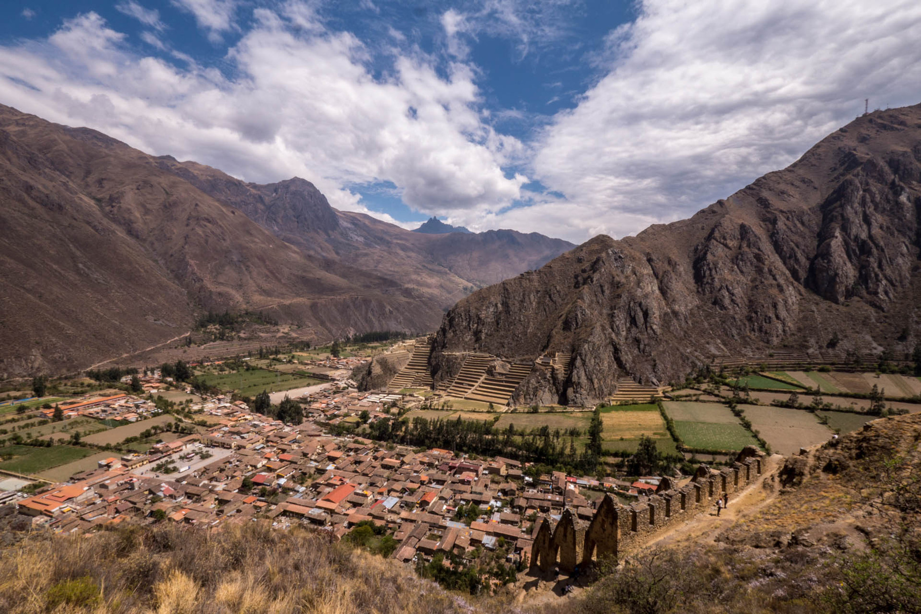 Village and Inca ruins of Ollantaytambo, Sacred Valley