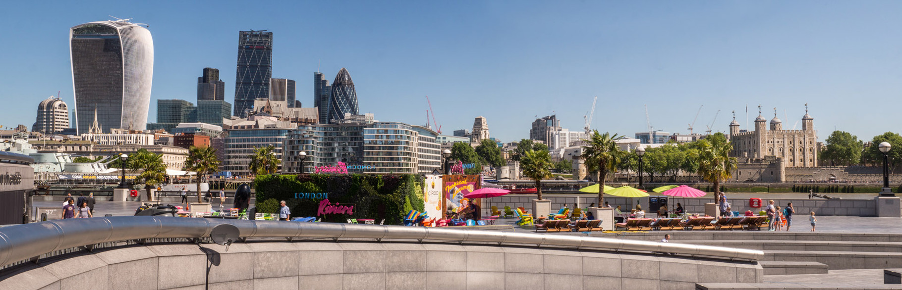 """Skyline with """"The Walkie Talkie"""" and """"The Gherkin"""", London"""