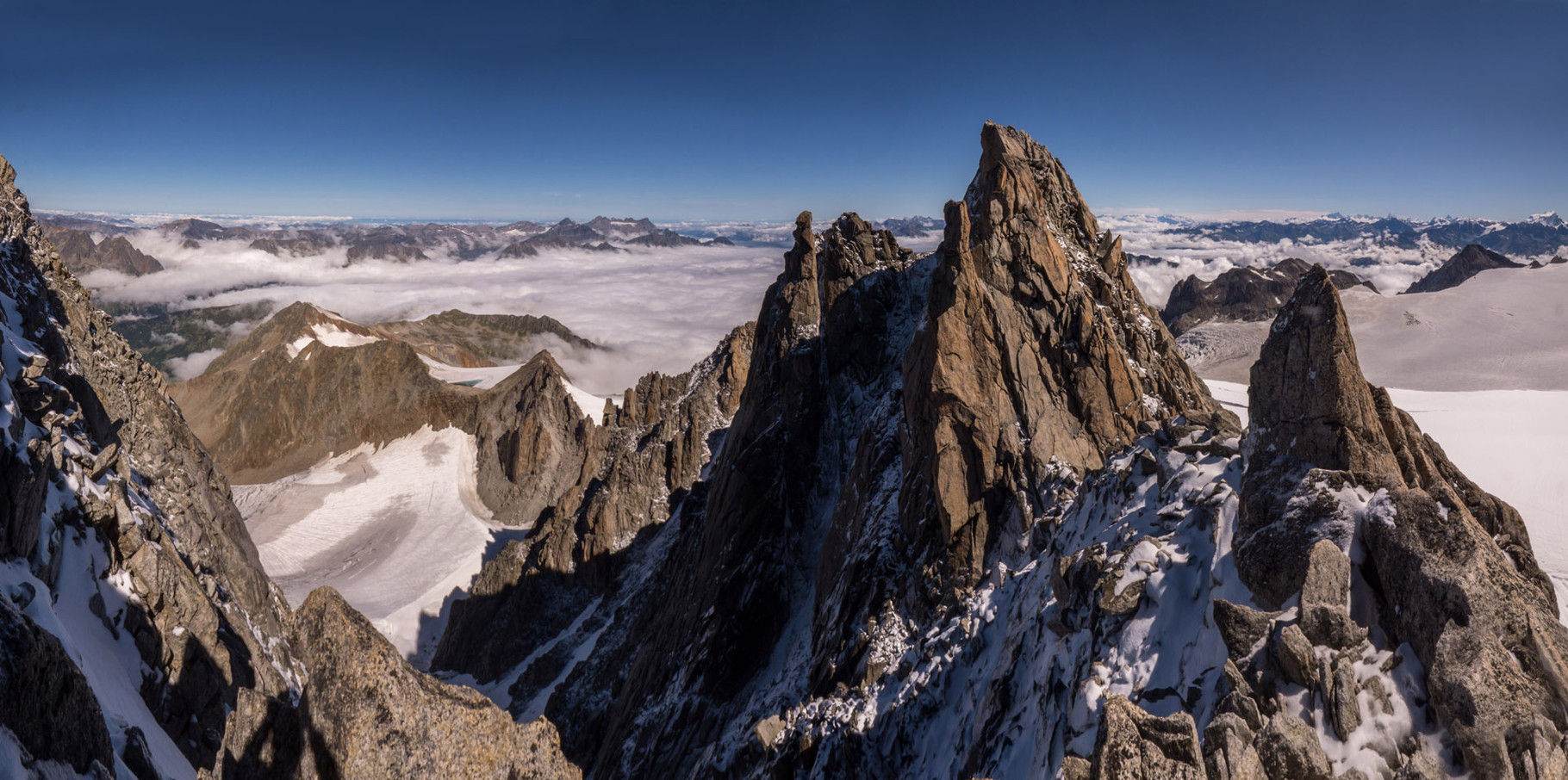 Panoramic view from from Aiguille du Tour