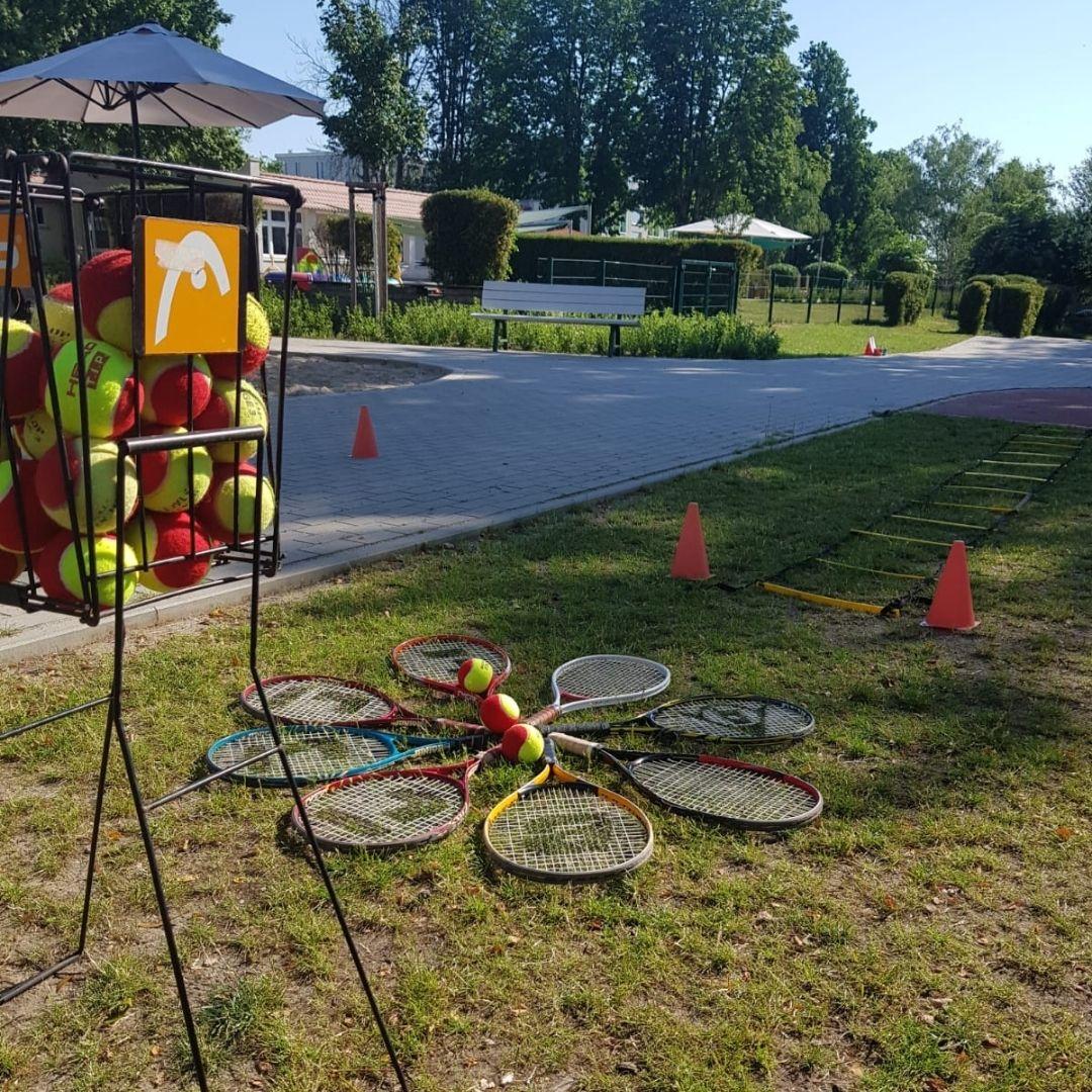 Ball- und Bewegungsschule beim Sportfest der Kita Hopfengarten aktiv