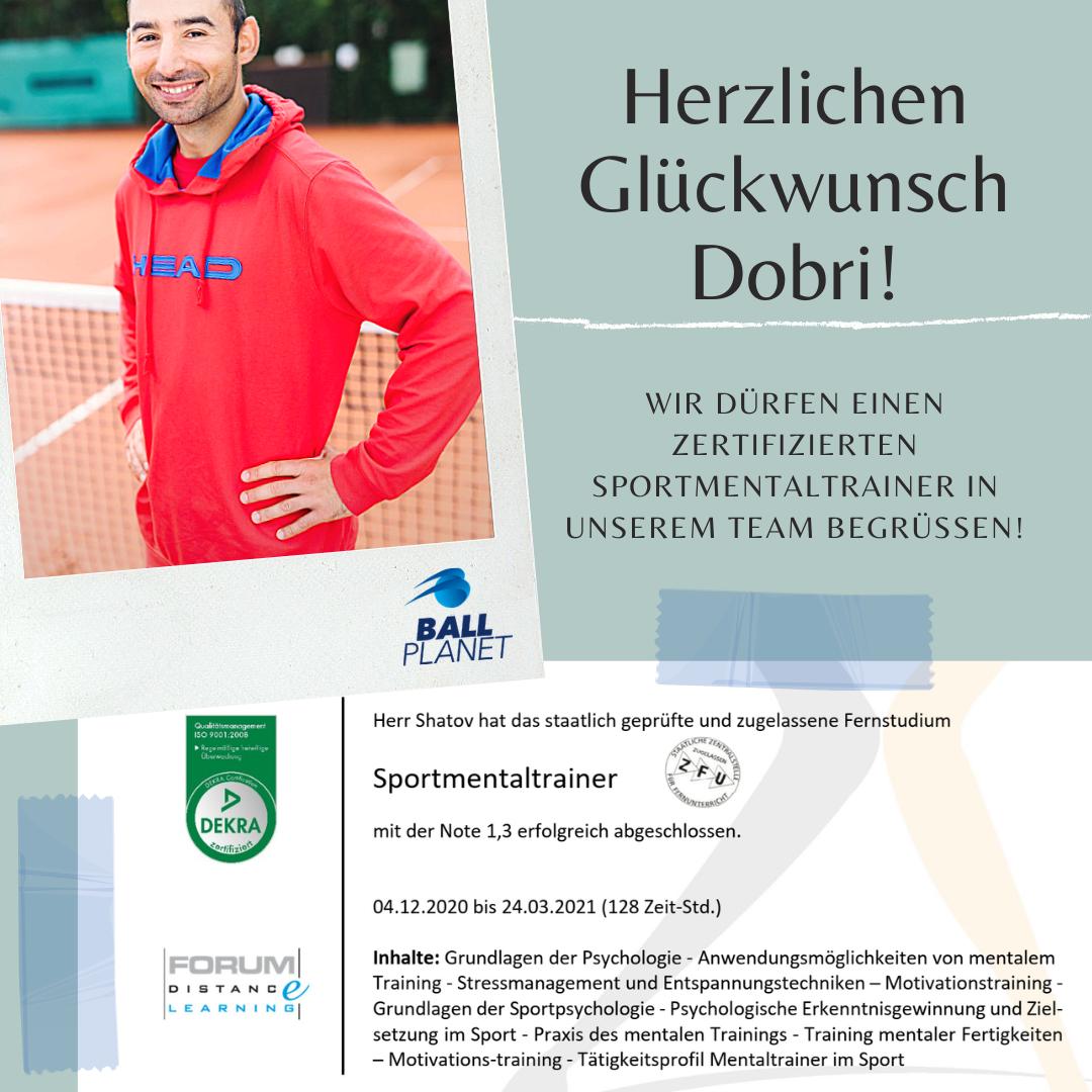Unser Coach Dobri ist zertifizierter Sportmentaltrainer!