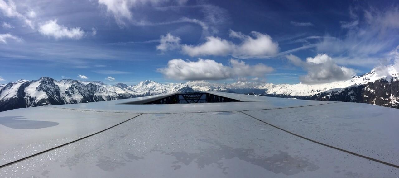 Ausblick vom Dach der Bergstation Moosfluh, Riederalp