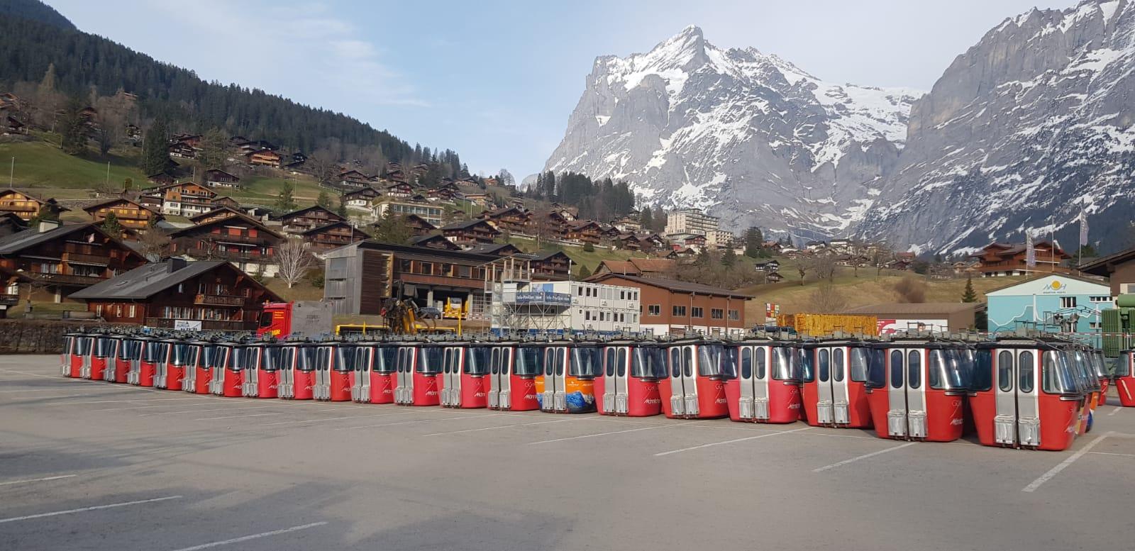 Gondeln Männlichenbahn, Grindelwald BE, 2019