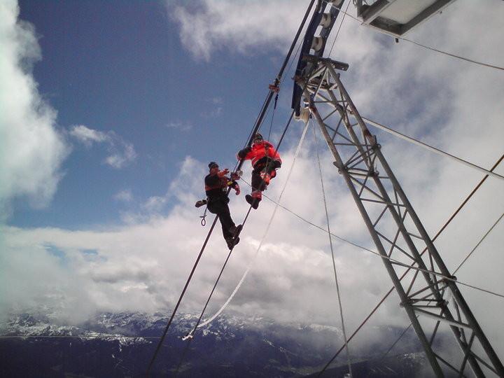 """Seilwechsel Seilbahn """"Fjellheisen"""" in  Tromsø, Norwegen"""