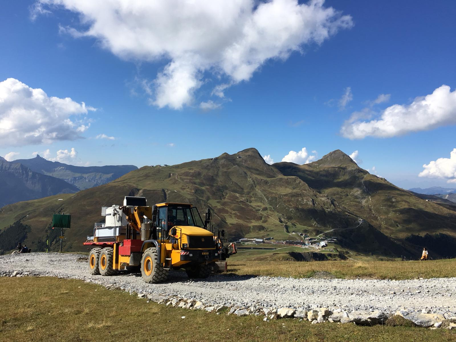 Transport Betonanlage Eigergletscher, 2018