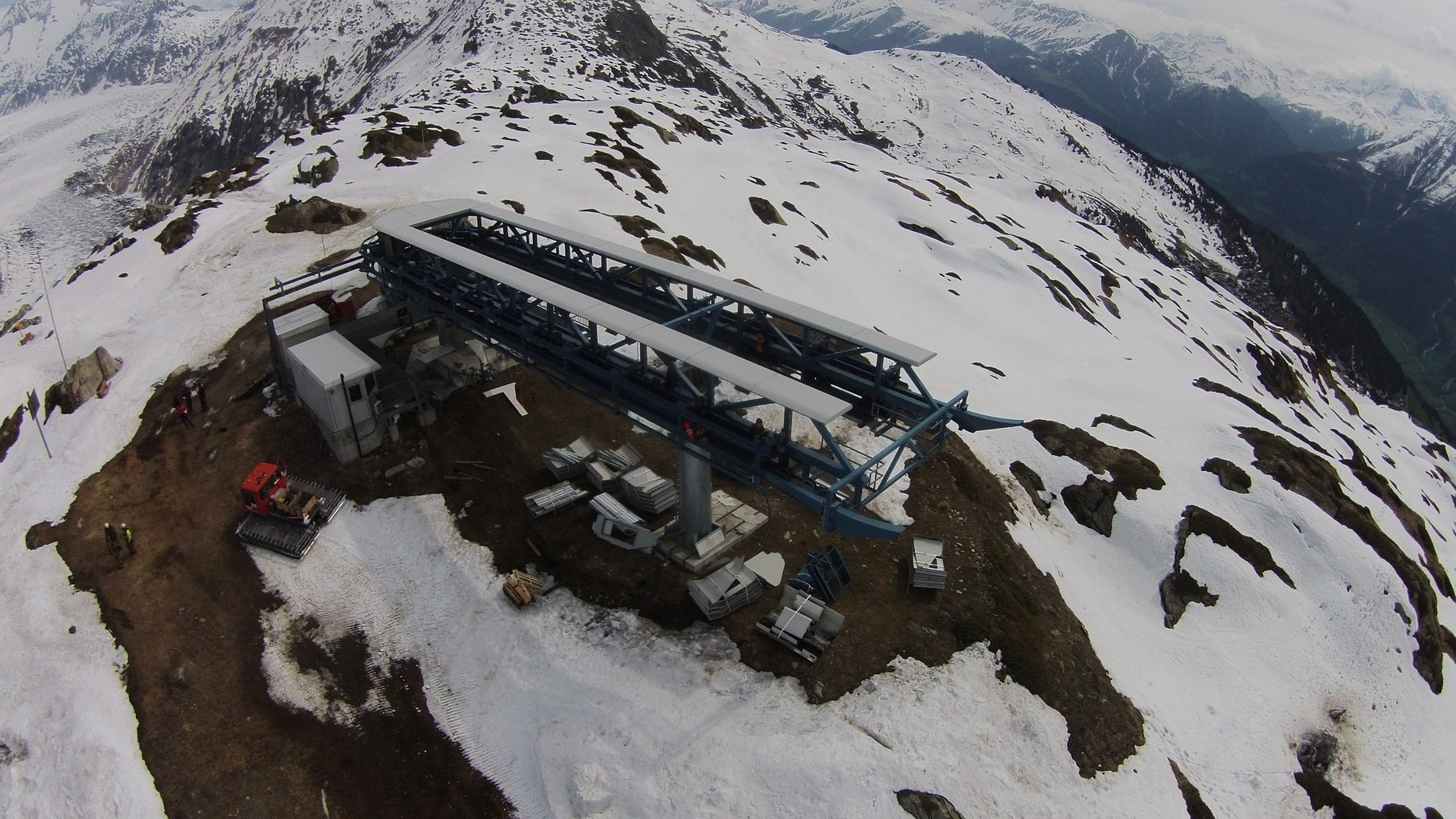 Demontage Bergstation Moosfluh, Riederalp