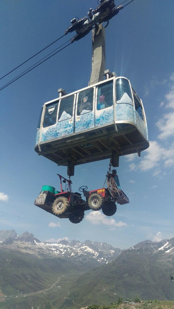 Demontage der 2-er Sesselbahn und Skilift Gruschenalp, Andermatt