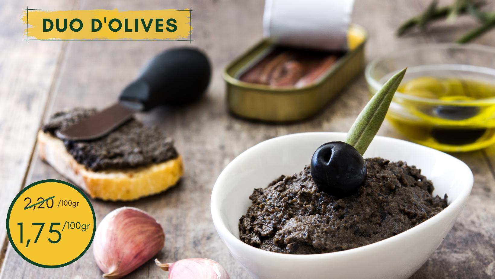 Craquez pour le duo d'olives !