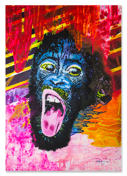 YOU CAN'T ALWAYS CHOOSE, MONKEY, welcome to the Jungle, Tabea Henne, 2017, Unikat, Acryl und Lack, Ulmer Malgrund