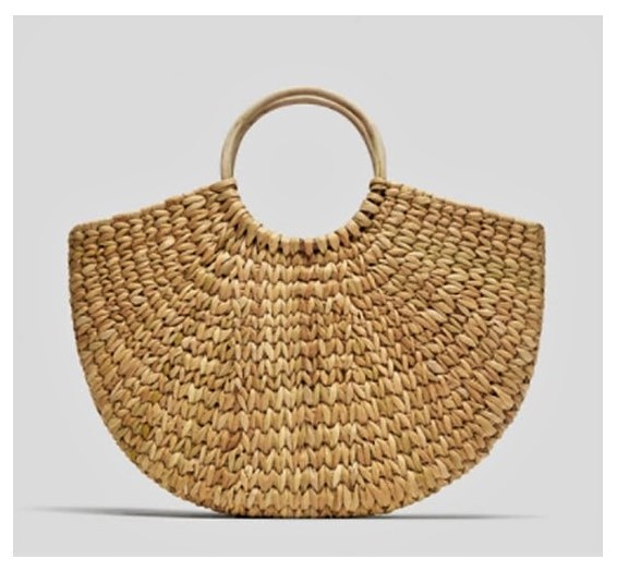 Large Half-Round Basket Bag